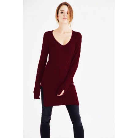 Toptan Triko Tunik Bordo
